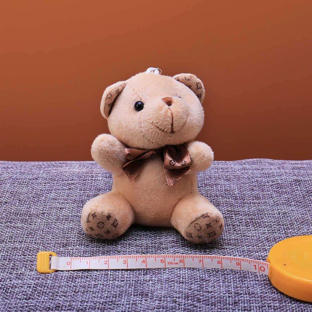 Bonito Pele Pompom Mulheres Animais de Brinquedo Boneca Urso Keychain Chaveiro Saco Chave Do Carro Cadeia Festa de Casamento Presente Do Valentim Da Jóia Trinket 2019