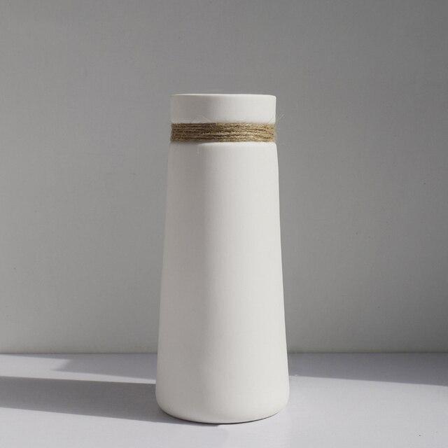 Modernen Minimalistischen Blumen Vase Weiss Keramik Matte Vase Mit