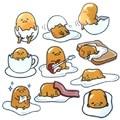 1 Pcs 10 Styles Lovely Gudetama Plush Toys Yellow Lazy Egg PVC stickers