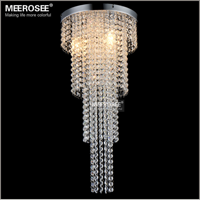 3 Lights Crystal Chandelier Long Size Re Light Bedroom Aisle Porch Lighting Hallway Cristal Suitable