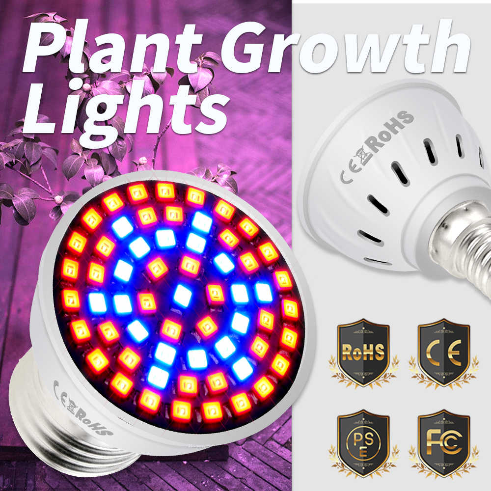 Full Spectrum E27 Led Grow Light Bulb GU10 Fito LED Plant Growing Lamp E14 Phyto Lamp MR16 Greenhouse Indoor Grow Tent Box B22