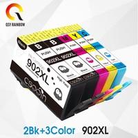 Cmyk supplie substituição para hp902xl hp902 cartucho de tinta com chip para hp officejet pro 6960/6961/6963/6964/6965/6966/6968 Cartuchos de tinta     -