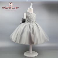 Girls Dress New Children Princess Dress With Big Bow Tie Sleeveless Personalized Leaking Dress For Girl