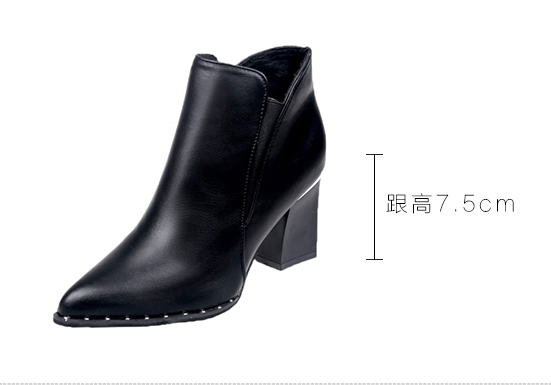 European style simple tide womens boots ladies British rivet Martin autumn and winter 2019