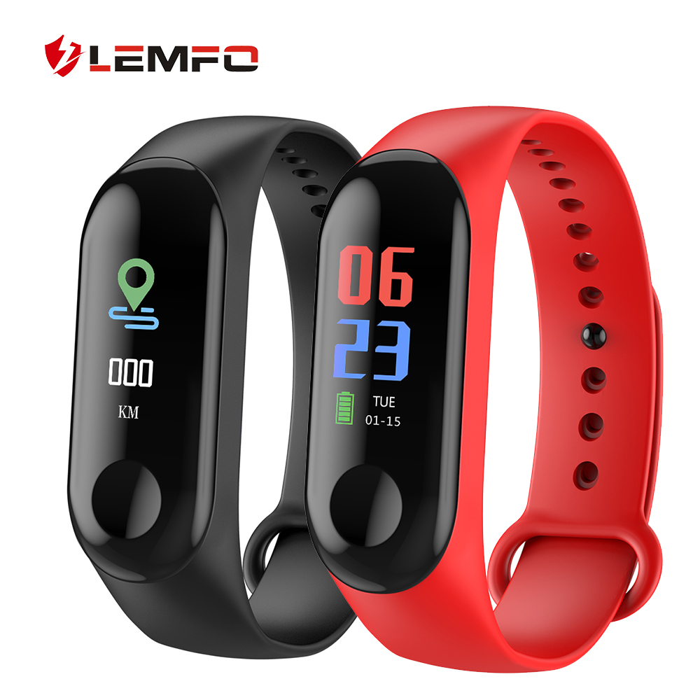 Fitness Armband Uhr IP67 Wasserdicht Herz Rate Blutdruck Blut Sauerstoff Überwachung LEMFO Smart Armband für Männer Frauen