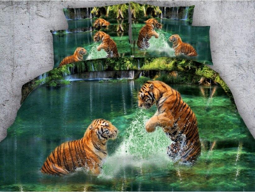 Tiger Comforter Sets 3d Bedding Set Luxury Duvet Cover Bed