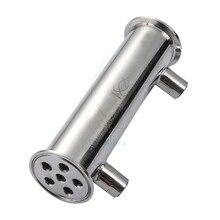 """2 """"OD64mm Dephlegmator, Reflux, конденсатор дистиллятора. 200 мм, санитарная сталь 304"""