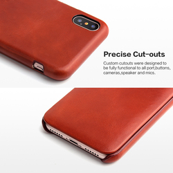 For iphone X XS mobile phone case iphone XS Max flip Genuine leather protective case For iphone XR card leather case 5