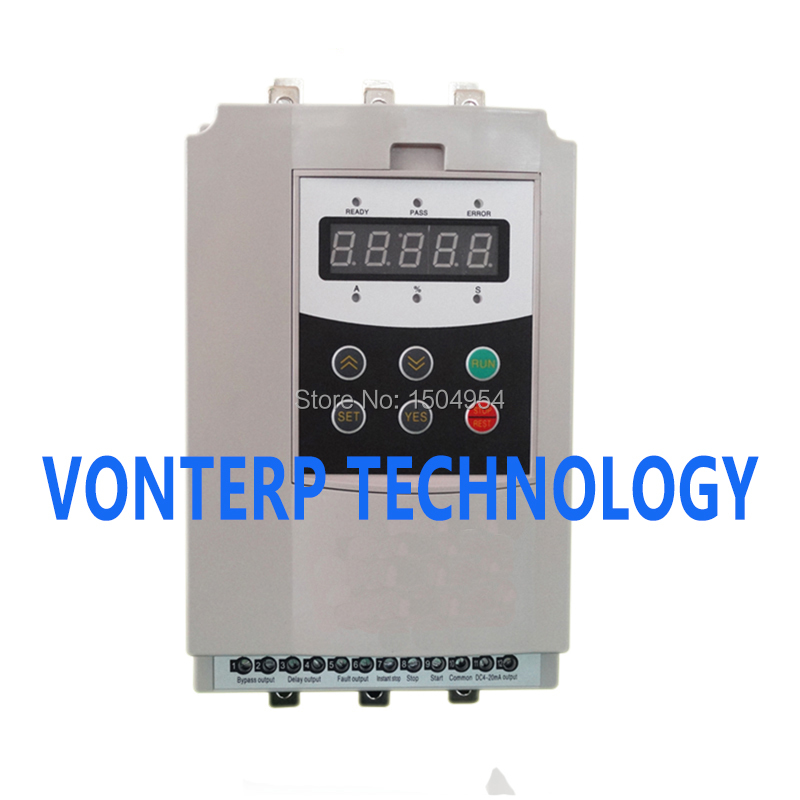 three phase 380vac 22kw motor soft starter/soft starter chint electromagnetism starter magnetic force starter qc36 10t motor starter phase protect magnetic force switch