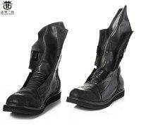 Мужские кожаные ботинки челси FR.LANCELOT  черные ботинки в британском стиле  на плоской подошве  со шнуровкой  В рыцарском стиле  2020
