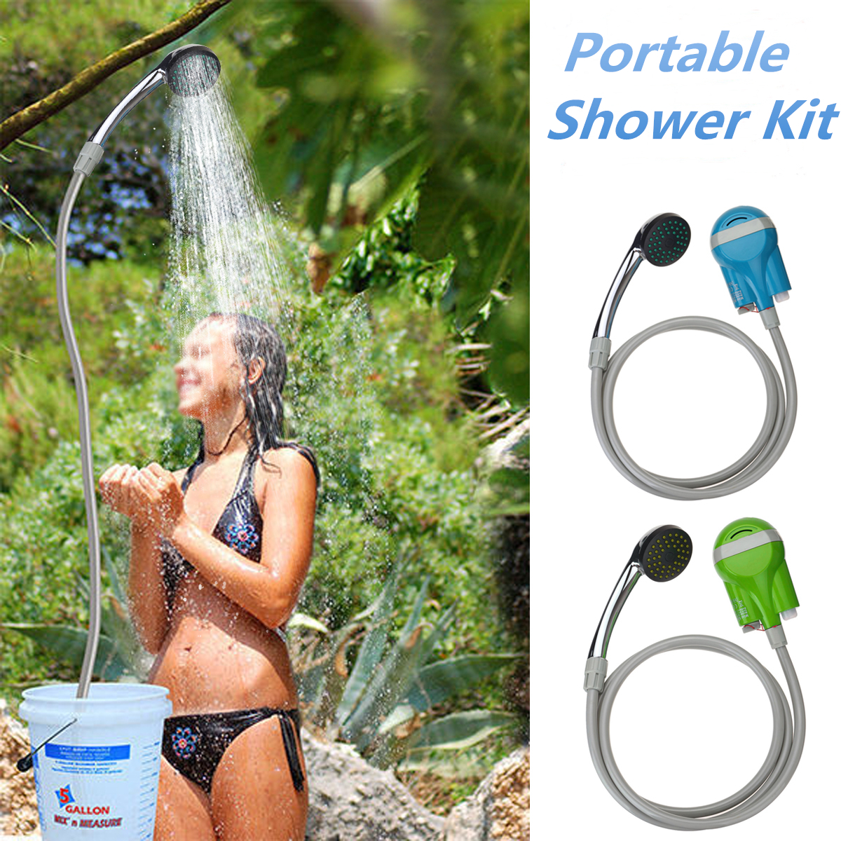 Électrique sans fil Portable voiture caravane Van laveuse nettoyeur pulvérisateur USB batterie Rechargeable douche extérieure pompe à eau Kit de lavage
