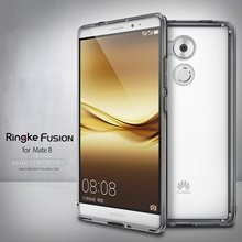 100 Original Ringke Fusion Mate 8 Case Crystal Clear Back Cover and TPU Frame built in