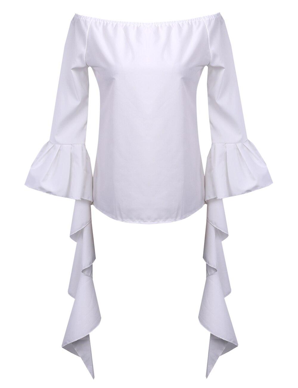 NUEVAS Mujeres de La Moda Delgado 3/4 de La Manga Casual Camisa Blusa Tops Hombr