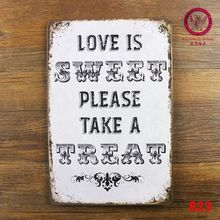 tin sign Love for