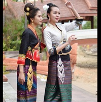 Thailand Laos Myanmar Traditional Dai costume women's suits retro water conservancy Festival life dress festival costumes