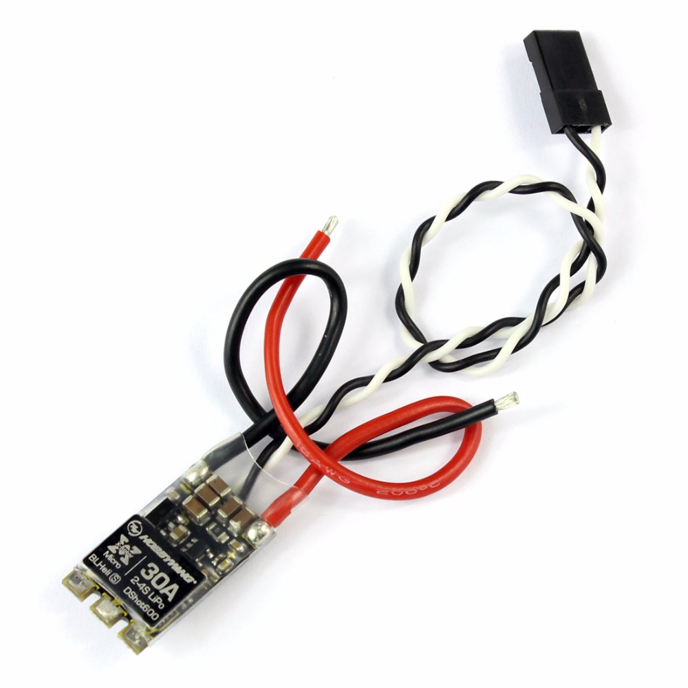 XRotor BLHeli-S 30A ESC Dshot600 Mini Brushless ESC Speed Controller Support PWM 2-4S LiPo for RC Racing Drone Aircraft F21520 xrotor micro blheli 30a 2 4s esc electronic speed controller for hobbywing original rc helicopter accessories