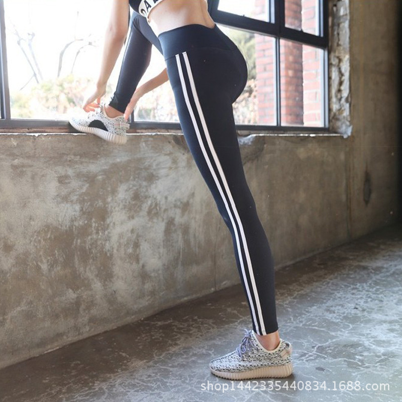 Side Line Sport Leggins Running Breathable Running Leggings Tummy Control Sports Clothing 2019 Women Fitness Tights Quick Dry