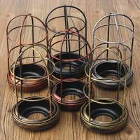 105x200mm Iron Edison Vintage Retro Lampshade Ceiling Light Fitting Lamp Guard Wire Cage Bar Cafes Decor