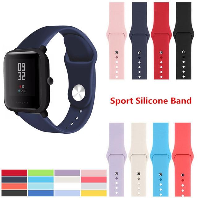 Correa suave de silicona para Xiaomi Huami Amazfit Bip BIT Lite Youth Smart Watch pulsera de muñeca portátil Amazfit correa de reloj 20mm correa