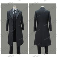 Hot Anime black Emiya Kiritsugu Hallowmas Uniform Suit Party Clothing Cosplay Costume from Fate Zero women man clothing