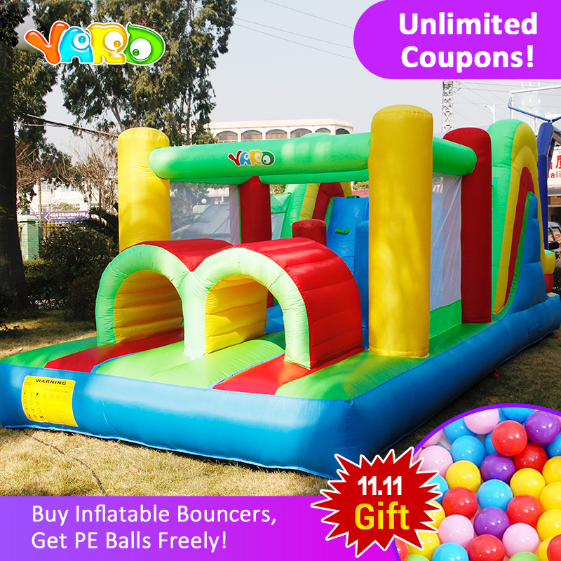 цена на YARD Inflatable Obstacle Bounce 6.5*2.8*2.4 m House Use Jumping Castle Children Funny Kids Bouncy Castle Toys Kids With Blower