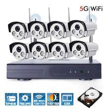 Новый 8-КАНАЛЬНЫЙ 720 P HD Wi-Fi NVR КОМПЛЕКТ Беспроводная Ip-камера Системы 2 ТБ WI-FI NVR Комплект P2P Открытый ИК Ночного Видения Безопасности CCTV система