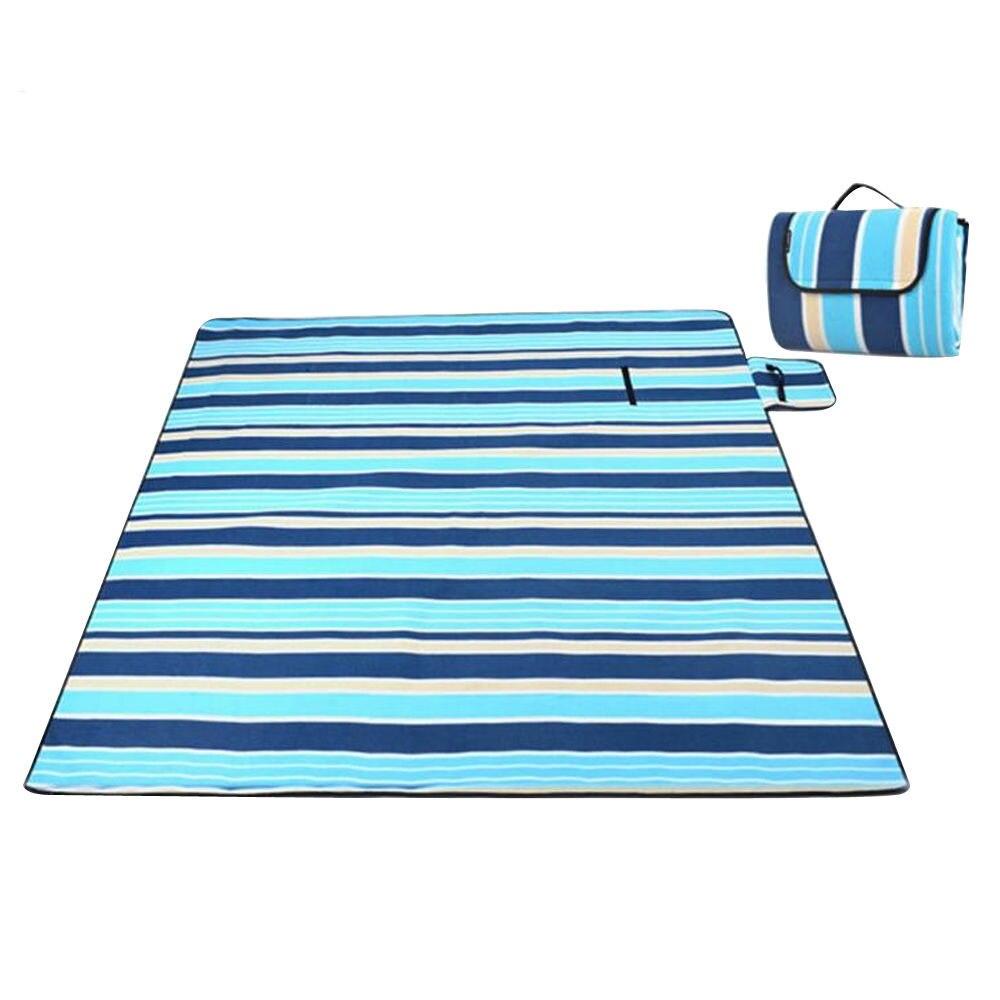 Фланелевые пижамы для детей 6 лет, коврик для кемпинга одеяло для улицы складной кемпинг первой помощи коврики для пикника твердый питомник коврики туристический коврик газон напольный коврик - Цвет: blue and white