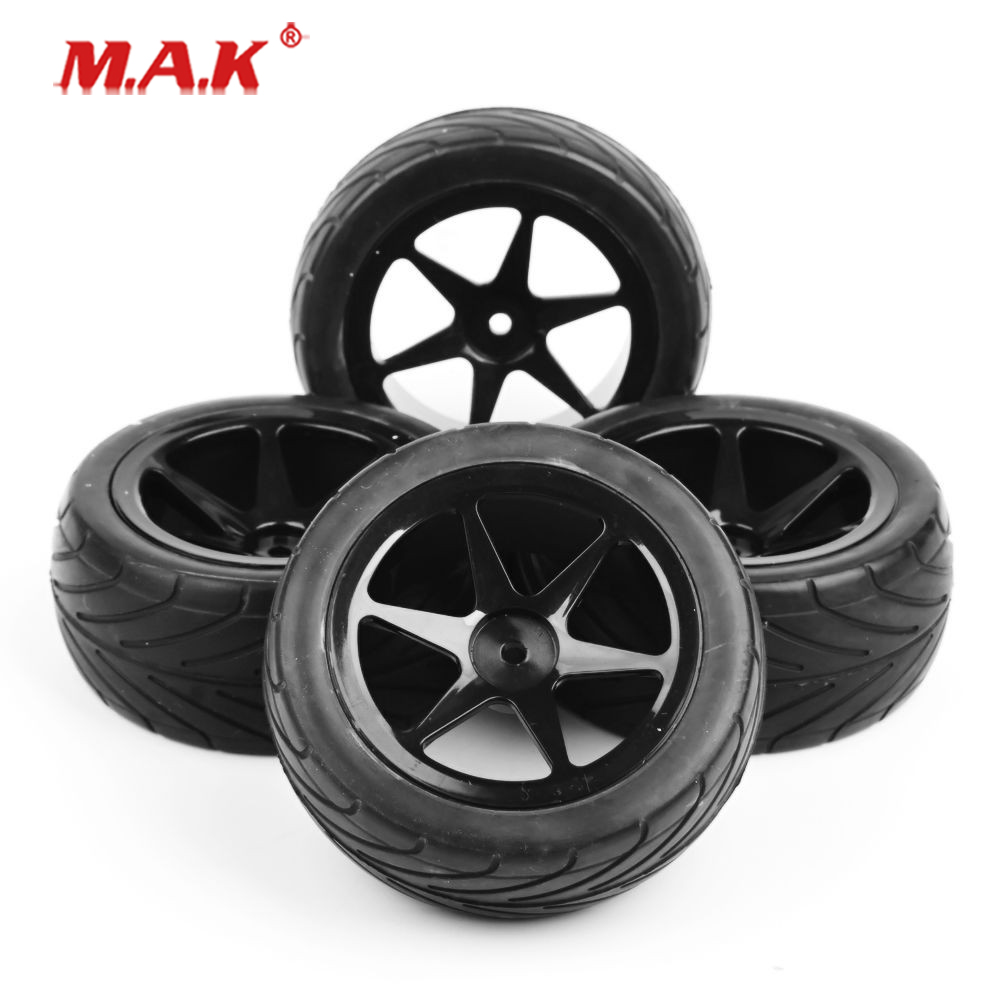 4Pcs/Set 1:10 Scale Front&Rear Set Off-Road Tires&Wheel Rims with 12mm Hex fit RC Buggy Car Model Toys Accessories Gifts