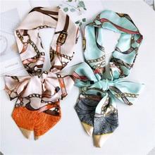 New mid-length scarf scarves women in the spring autumn and summer Korea Joker wrist ribbon long bag belt headband hair