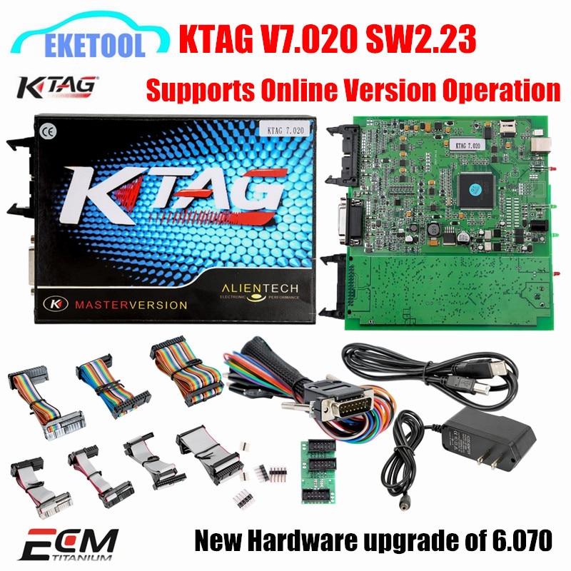 Prix pour Meilleur KTAG 7.020 Firmware SW2.23 K TAG Puce Tuning Travaux Voitures/Camions K-TAG V7.020 En Ligne Version Ajouté Plus de Voitures que V6.070