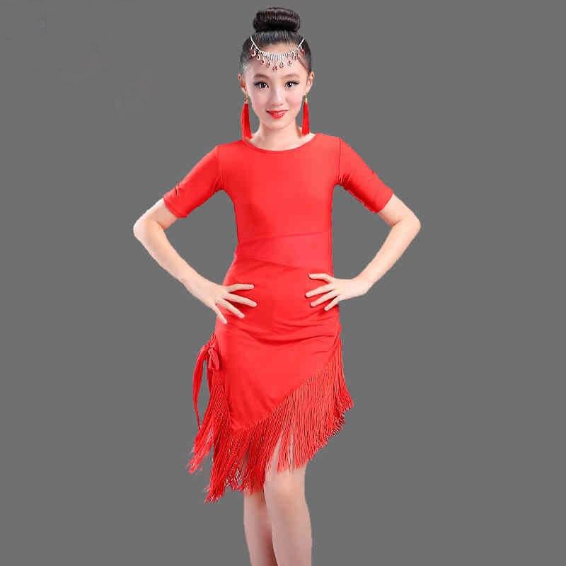 G Latin Dance Dress For Girls Latin Costume Child Kids Dancing Dress Girl Dancewear Kid Competition Latin Dress High Quality