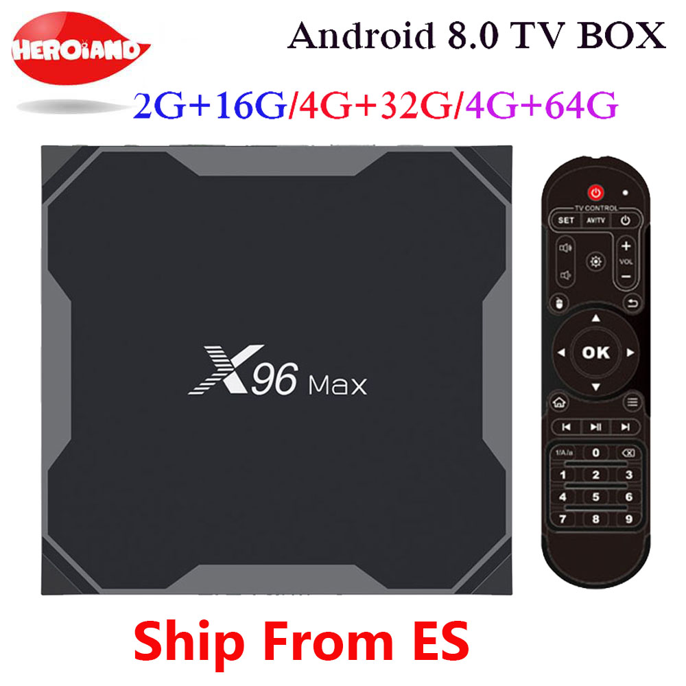 x96 max Android 8.1 Amlogic S905X2 LPDDR4 4GB 64GB Quad Core TV BOX 2.4G 5G Wifi BT H.265 4K 60fps Smart X96Max androdi TV box цена