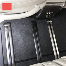 lsrtw2017 car-styling 304 stainless steel car floor track protect cover for toyota alphard Vellfire 2015-2020 AH30 lsrtw2017 car interior styling stainless steel car nano air filter frame trims for toyota alphard vellfire 2015 2020 ah30