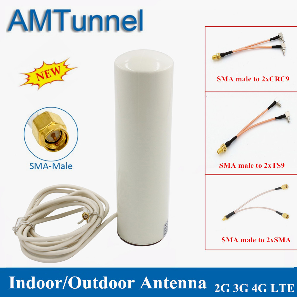 4G WiFi Antenna 3G LTE Modem Antena 3M Cable 2.4GHz Antenne 12dBi 2*SMA/2*TS9/2*CRC9 Male For Huawei B315 E8372 E3372 Router