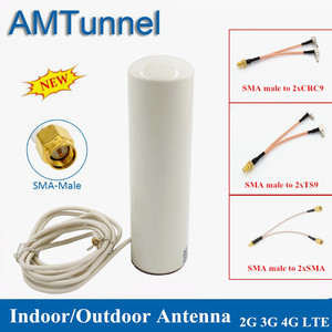 Image 1 - 4G WiFi Antenna 3G LTE modem antena 3M cable 2.4GHz antenne 12dBi 2*SMA/2*TS9/2*CRC9 male for Huawei B315 E8372 E3372 router