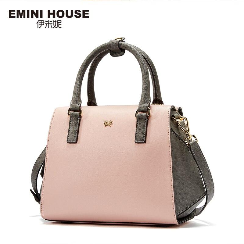 EMINI HOUSE Mixed Color Top-Handle Bag Women Messenger Bags Luxury Handbags Women Bags Designer Lady Shoulder Bag top house 235282