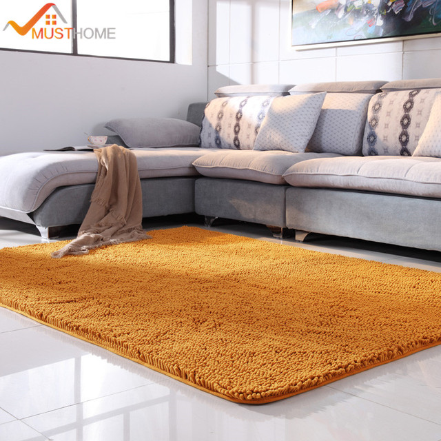 100x120cm 39 X47 Microfiber Chenille Carpets For Living Room Machine Wash Area