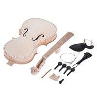 FAI DA TE 4/4 Naturale In Legno Massello Violino Set Indietro Acero Neck Tastiera