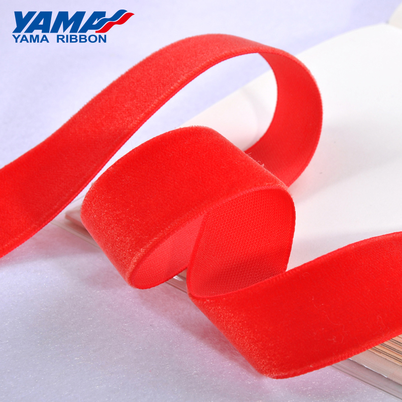 YAMA 13 16 19 22 25mm Solid Color Velvet Ribbon for Crafts Gifts Garment Accessories 25yards/lot ( Shops have 10 kinds of size )(China)