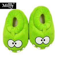 Furry Adventure Slippers Cartoon Plush Warm Slippers Non Slip Floor Slippers Paws Funny Slippers Women Paw