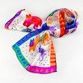 Popular estilo de pequeños animales de seda larga bufanda bufanda de seda de los niños femeninos Del Zodiaco accesorios bolsa de satén
