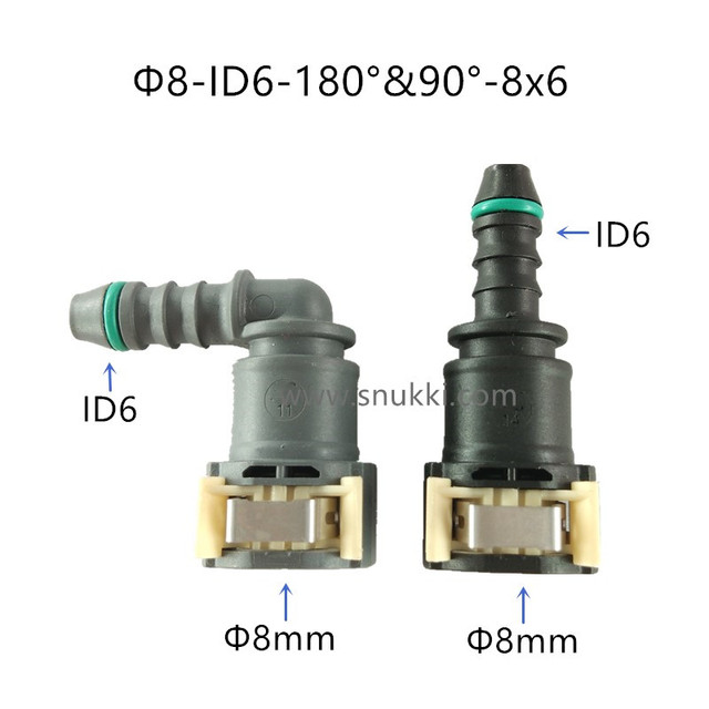 US $8 28 10% OFF|D8mm ID6 Fuel line connectors quick connector female  connector gasoline filter fuel filter for Peugeot and Citroen two pcs a  lot-in