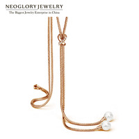Neoglory Simulated Pearl Long Necklace Chain Display Jewelry Wholesale Gift For Women Girl Friend Birthday 2016