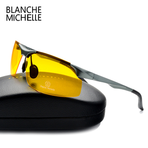 Image 4 - 2020 אלומיניום מגנזיום גברים משקפי שמש מקוטב ספורט נהיגה ראיית לילה משקפי משקפי שמש דיג UV400 ללא שפה משקפיים שמש sunglasses men sun glasses man sunglass
