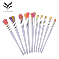 10pcs Unique Mask Silicone Brush BB Cream Concealer Eyeliner Gel Lip Professional Makeup Brushes Set Cosmetic