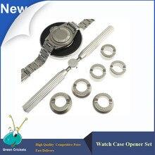 No. 5537 6 Tipos/set Reloj Abrelatas de la Caja, 18.5-29.5mm Profesional Relojero Reloj Detrás Encajona y más cerca de los relojes Reparación