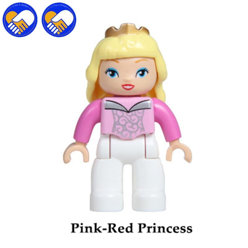 A TOY A DREAM 5pcs/set Big Size Dream Castle Cinderella Princess Prince Compatible DUPLOES Bricks Figure Model Educational Toys