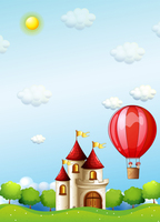 Thin Fabric Cloth Printed Photography Background Children S Castle Backdrop 5ft X 7ft D 733