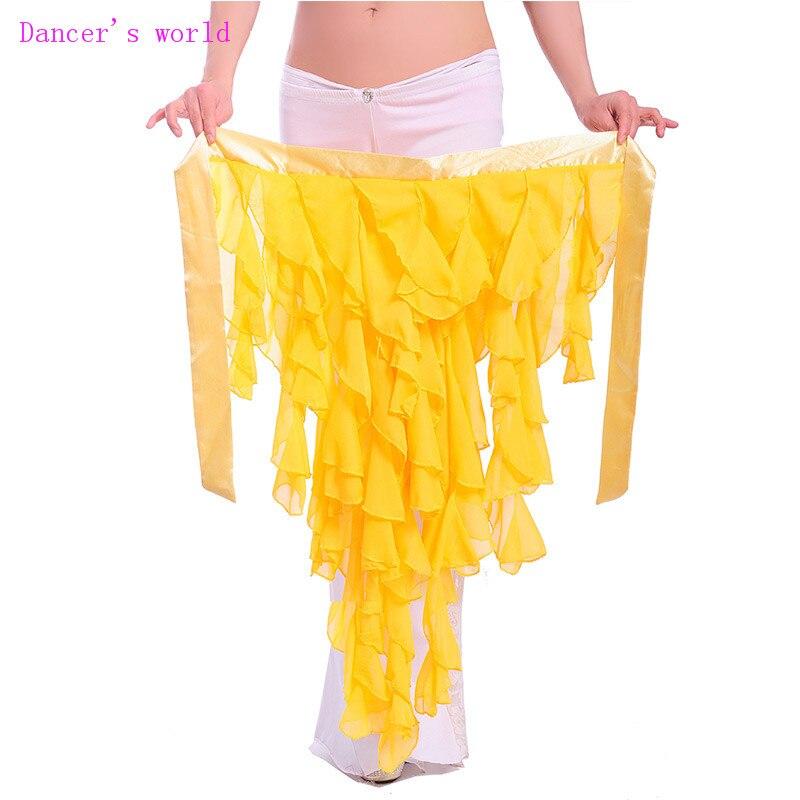 Wholesale Belly Dance Hip Scarf Chiffon Fox's Tail Belly Dance Hip Scarf Sexy Women Belly Dance Chain Girls Belly Dance Belt
