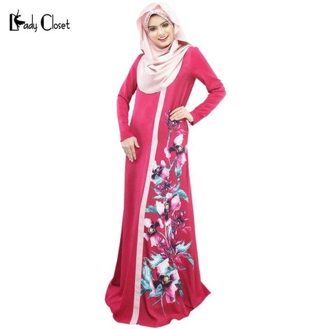 2 шт. Мусульманин абая платье Турецкие женской одежды исламские abayas и jilbabs мусульманского vestidos longos цифровая печать кафтан Красный